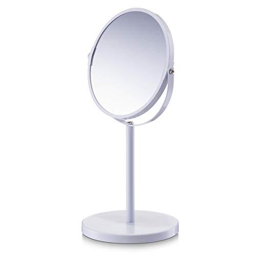 Zeller 18704 Kosmetikspiegel, 1x/3x , ø15 x 35 cm, weiß