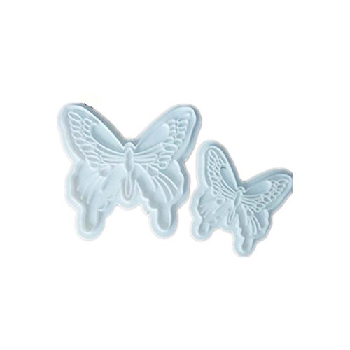 ED-Lumos DIY White Butterfly Shaped Path Walk Maker Mold for Garden Paving Pavement Patio Walkway Pack of 2