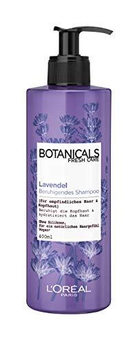 Botanicals Shampoo, ohne Silikon für empfindliches Haar und Kopfhaut, mit Lavendel, beruhigt die Kopfhaut und spendet Feuchtigkeit, 1er Pack (1 x 400 ml)