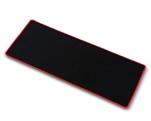 """OPCC high Grade Thick Official Big Mouse pad Game Mouse pad Extended Edition Cloth Gaming Mouse Mat 23.6""""11.8""""0.12"""" Functional Non-Slip Rubber Base (red)"""