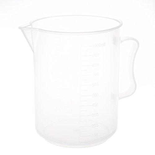 Katigan 1000mL Capacidad Vaso de precipitados Juego de medicion de Laboratorio Graduado de plastico Claro