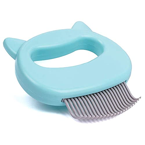 Leo's Paw The Original Pet Hair Removal Massaging Shell Comb Soft Deshedding Brush Grooming and Shedding Matted Fur Remover Dematting tool for Long...
