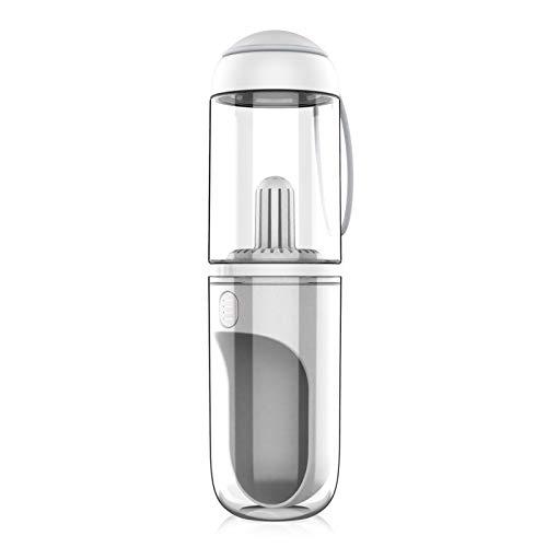 RIOGOO Dog Water Bottle Portable Leakproof Upgraded, Dog Water Dispenser Lightweight for Travel BPA Free 12 OZ (White)
