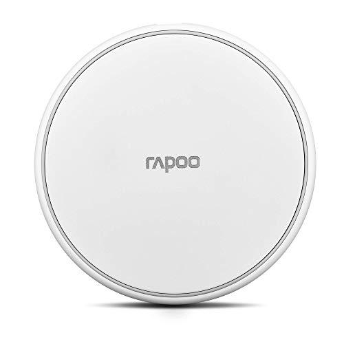 Rapoo XC100 kabelloses Induktionsladegerät für Smartphone, Ladegerät für iOS und Android (z.B. IPhone, Samsung), flach, Qi-Laden, Schnellladen, weiß