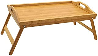 YATAI Food Serving Platter Wooden Tray Bamboo Bed Tray With Folding Legs Great For Kitchen, Hotels Bars, Coffee, Breakfast...