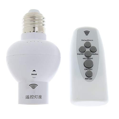 Interruptor de Tapa de Portalámparas Inalámbrico con Enchufe de Bombilla de Control Remoto de Dígitos
