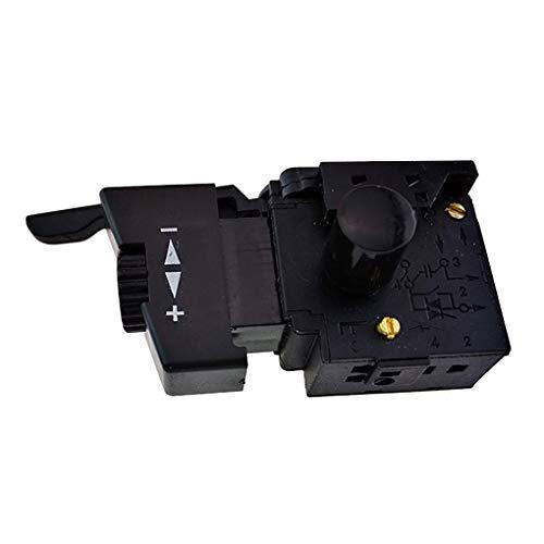Rekkles L'Alta qualità di Blocco 10A per Il Controllo della velocità Drill Power Tool Elettrico Trapano a velocità di Controllo Trigger Pulsante Interruttore