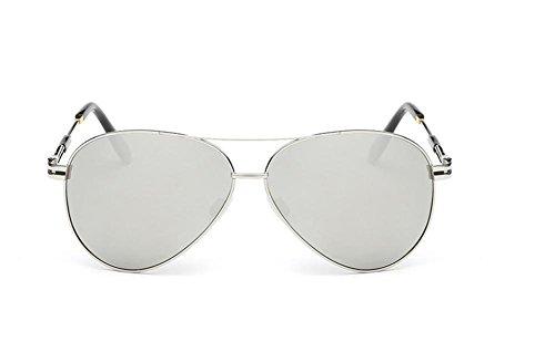 CMCL Caminante Gafas De Sol Polarizadas Clásicas Gafas De Sol De Moda De Los Hombres, Silver Capullos