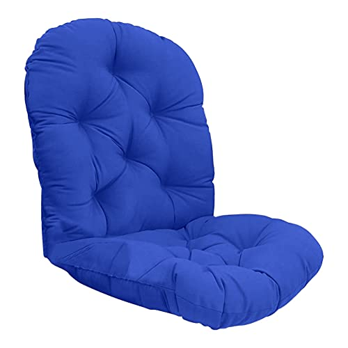 TASJS Rotación de la Silla Mecedora Cojín Lavable Muebles para el hogar Cojín de cojín más Grueso Cojín Cojín Moderno al Aire Libre Decoración de la casera Cojín (Color : Blue)