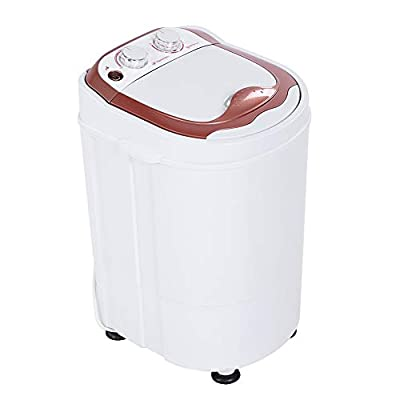 Camping Washing Machine, 220V Portable Electric Single Tub Mini Washing Machine Full-Automatic Compact Laundry Washer Spinner for Apartments Dorms Home Hotel,54 x 35 x 34cm