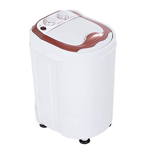 EBTOOLS Lavadora portátil monocilíndrica con Temporizador Mini Lavadora de Ropa Automática Robusta Compacto para Dormitorio Apartamento Enchufe de la UE 220V