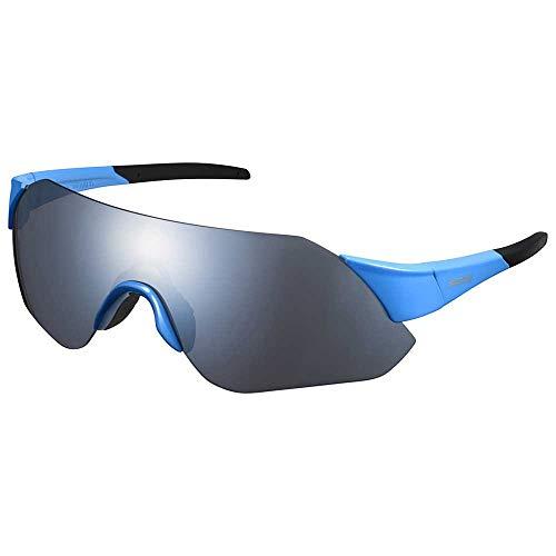 SHIMANO Gafas Mirror Y21, Adultos Unisex, Blue w/Smoke Silver (Multicolor), Talla Única