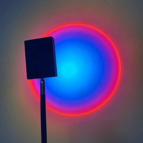 NAY Sonnenuntergang Lampe,Kreative Stehlampe,LED Projektion Stehleuchte,Erwachsene Zimmer Dekorativ Bar Party Geburtztag,Lila,1.6m
