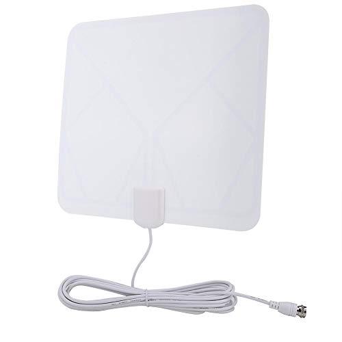 Socobeta Antena de amplificador de antena transparente duradera portátil respetuoso del medio ambiente Power Boost ISDB ATSC DVBT TV para receptor HDTV