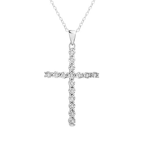 Elegant Diamond Cross Pendant - 6