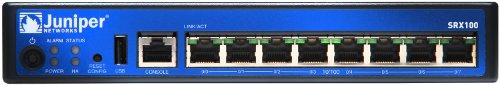 Juniper SRX100 Gateway/Controller - Gateways/Controller (IPv4, IPv6, CLNS, VLAN 802.1Q, 802.3ad/LACP, STP, BGP,is-is,MPLS,OSPF, 3DES,des, IPsec VPN, Radius, RSA SecureID, LDAP)