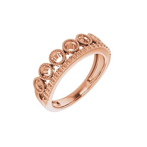 Anillo de oro rosa de 14 quilates con diamante pulido de 1 quilate de laboratorio, talla N 1/2, joyería de regalo para mujer