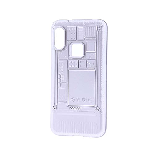 Funda para móvil Xiaomi Mi A2 Lite Carcasa Futurista Steampunk Antigolpes Resistente Silicona Plata (Xiaomi Mi A2 Lite)
