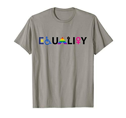 """EQUALITY"" Equal Rights LGBTQ Ally Unity Pride Feminist T-Shirt"