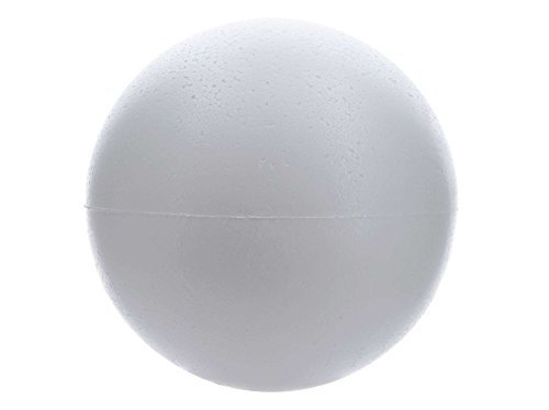 Smooth Foam Balls , 3-inch, White