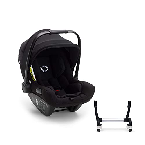 Bugaboo Turtle Air by Nuna, silla de coche para bebés y recién nacidos, con asa de transporte, ligera, duradera, con capota negra, con adapter para Bugaboo Donkey Mono