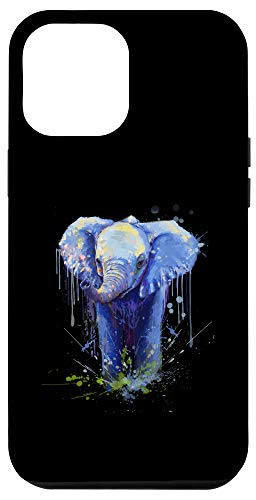iPhone 12 Pro Max Elephant Artwork - Big Mammal Elephant Artwork Gift Case
