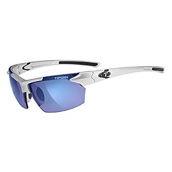Tifosi Jet 0210400677 Wrap Sunglasses,Metallic Silver Frame/Smoke & Blue Lens,One Size