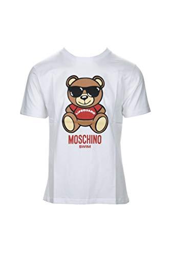 Moschino Swim Herren T-Shirt 3T1910 001, Swim 3T1910 001, Weiß, Swim 3T1910 001 Large