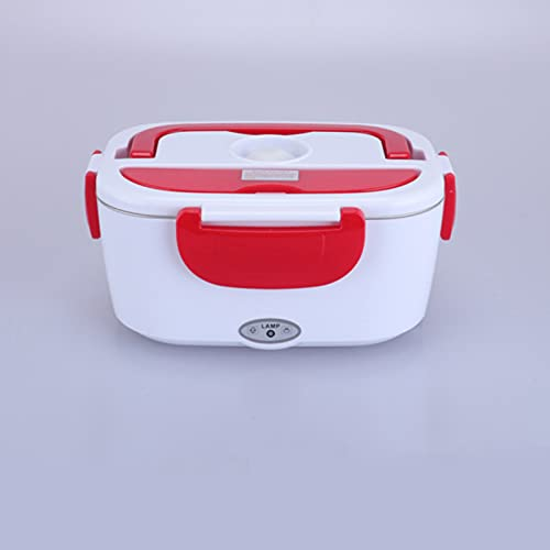 Caja de comida eléctrica Calentador de alimentos Dos en uno Caja de almuerzo de calefacción de alimentos para automóviles Apto para automóviles y hogares-a prueba de red-304