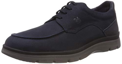 24 HORAS 10489, Zapatos de Cordones Oxford Hombre, Azul (Marino 5), 45 EU