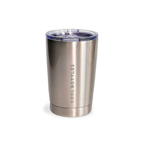 Cool Bottles - Edelstahl-Thermobecher | 330 ml | Thermobecher | Thermobecher zum Mitnehmen | Becher mit Deckel für warme oder kalte Getränke | Thermobecher Kaffee | BPA-frei