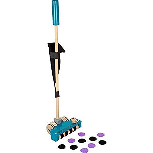 Small Foot 11735 Schiebespielzeug Staubsauger aus Holz, Lauflernhilfe und Rollenspielzeug für Kinder ab 18 Monaten Toys