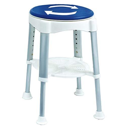 N/Z Tägliche Ausrüstung Duschlift Stuhl  Drehbarer runder Badehocker mit Drehsitz  Höhenverstellbar in 41,5~58 cm  mit Antilip-Gummispitzen