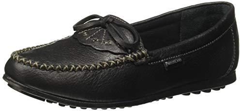 Woodland Women's Lb 2527117black2 Black Leather Moccasins-2 UK (35 EU) (3 US) 2527117