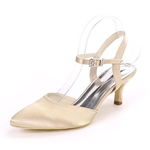 Sexy Zapatos de Novia, Color Sólido Zapatos de Novia para Mujer 6cm...