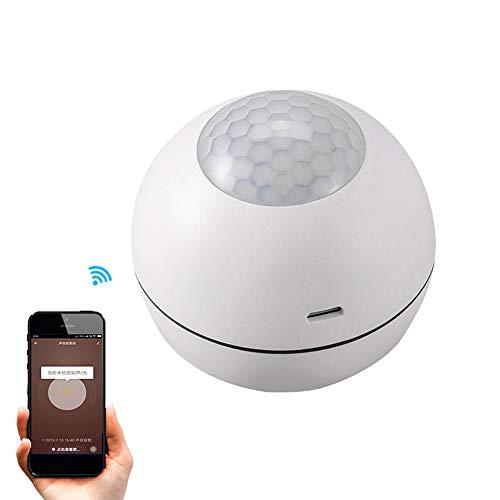 JINQII Alarma WiFi inteligente + sensor, Cuerpo Humano Inteligente Sensor de Movimiento Alarma Robo Detector PIR Sirena Monitoreo Remoto Tuya App Seguridad Hogar