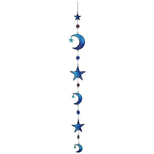 laroom 11404 – Pendentif lunes et étoiles Bleu, Couleur Bleu