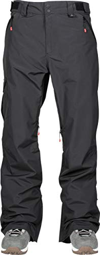 Nitro Snowboards Herren Altai 19 Nitro Snowboardhose Skihose warm wasserabweisend vollversiegelte Nähte schlicht und formschön beidseitig verstellbare Bundweite Hose, Black, M