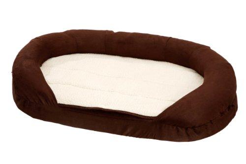 Karlie Hundebett Ortho Bed Oval, braun 118 x 72 x 24 cm