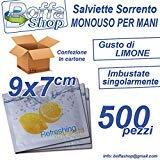Leone 1947 - Salvamanteles refrescantes de limón desechable, 9 x 7 cm 500 unidades.