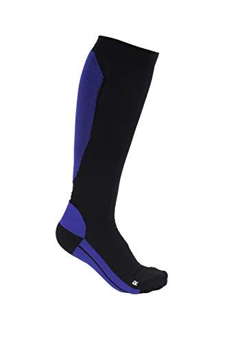 SolvaCare Sport kompressionsstrümpfe, blau - schwarz, M, 2er Pack