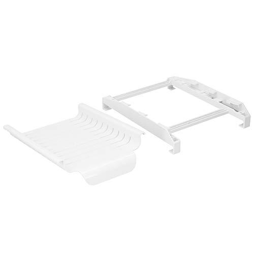 Omabeta Cajones de nevera pequeños blancos para frigorífico, organizador de cajones para la mayoría de refrigeradores con asa, estante para nevera, caja de almacenamiento (blanco)