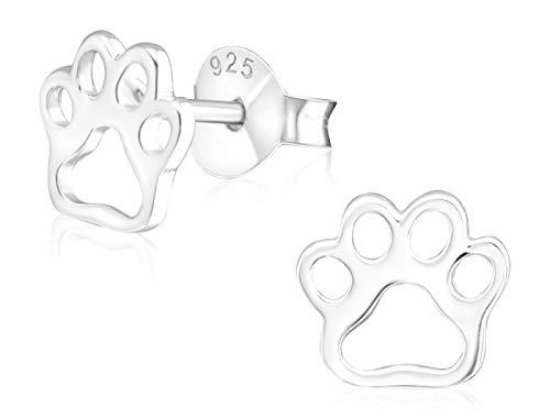 Laimons Mädchen Kids Kinder-Ohrstecker Ohrringe Kinderschmuck Hundepfote Pfote Pfötchen Tatzen in glanz aus Sterling Silber 925