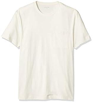 Amazon Brand - Goodthreads Men s Slim-Fit Short-Sleeve Crewneck Cotton T-Shirt Vintage White Medium