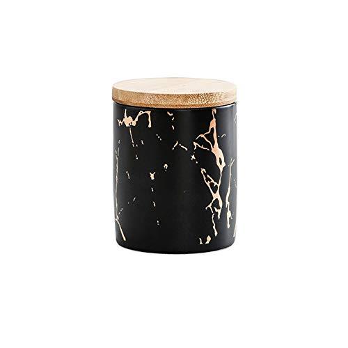 FINSHN Frascos Cerámica, Frascos Porcelana Diseño Moderno con Tapas Bambú, Recipientes Cocina, Frascos Sellados Mantenimiento Fresco, Granos Enteros, Frijoles, Frascos Almacenamiento Alimentos, Cajas