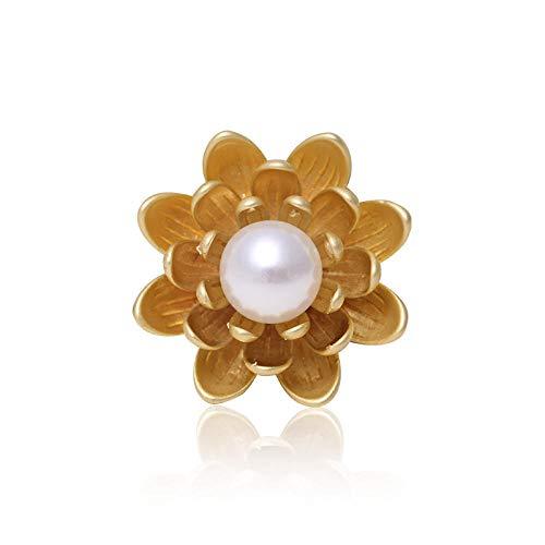YXYSHX Broches Y Alfileres para Niña Broche Floral para Mujer Chaqueta De Abrigo Vintage Broche De Diamantes De Imitación