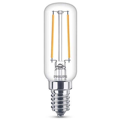 Philips classic T25, Kühlschranklampe, 25 W, warmweiß, 250 Lumen, Glas, Kolbenform LED Lampe, E27, 2.1 W, klar, (25W) EU