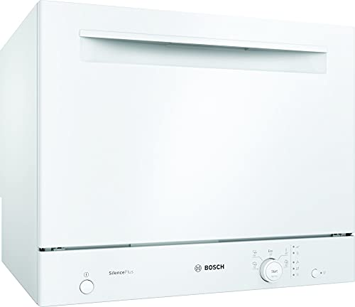Bosch SKS51E32EU - Lave-vaisselle Compact Série 2 - Pose-libre, 55 cm - 6 couverts - 5 programmes - Moteur EcoSilence Drive - Blanc