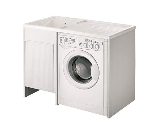 Wasmachine overtrek met wasmachine, afmetingen: 109 x 60 cm, badkuip, links, verwijderbaar