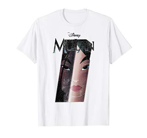 Disney Mulan Sword Reflection Logo Movie Poster T-Shirt